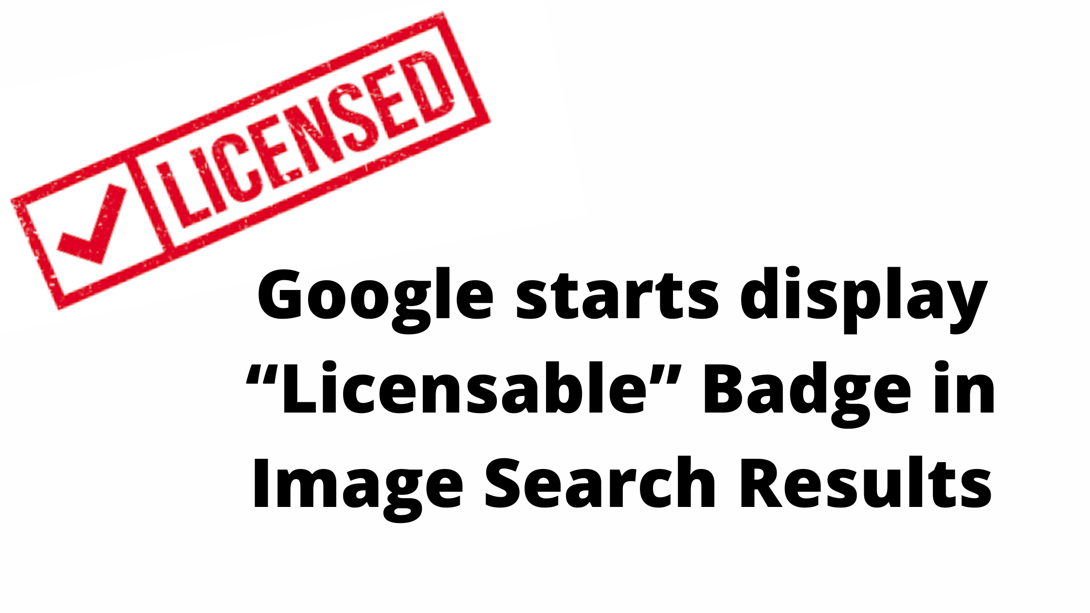 Licensable Badge in Image Search Results